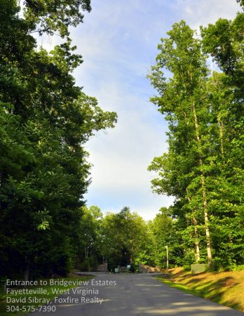 Bridgeview Estates Lot 26 Fayetteville WV 9 Entrance