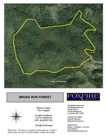 Broad Run Forest Google Earth map (Foxfire)