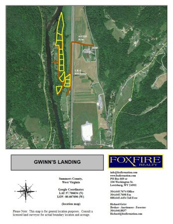 Gwinn's Landing location map (Foxfire)
